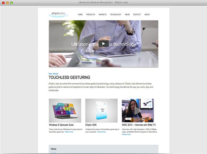 Elliptic Labs - nettside