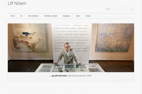 Ulf Nilsen screenshot av nettsiden